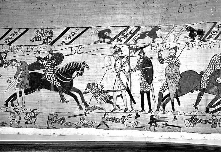 Tapisserie de Bayeux (avers),  80B : Suite du combat