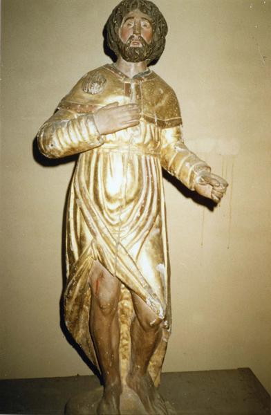 statue (demi-nature) : saint Roch