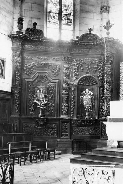 retable (retable architecturé à niche), style baroque, détail