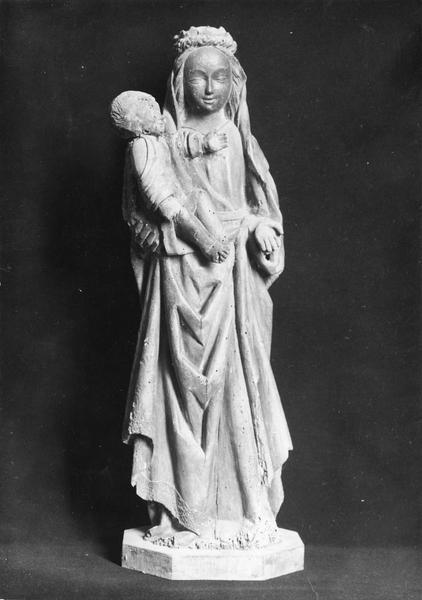 statue (statuette) : Vierge à l'Enfant, vue de face