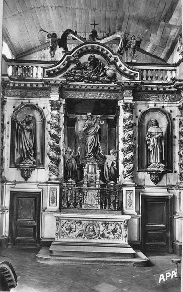 retable (retable architecturé), style baroque, vue d'ensemble