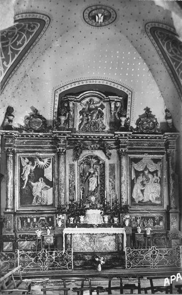 retable (retable architecturé) : la Vie de la Vierge, style baroque