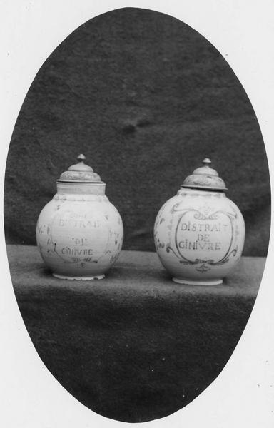 deux vases décoratifs