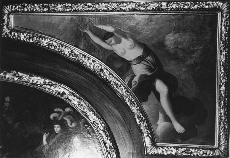 plafond, cheminée (décor intérieur), tableau : personnage