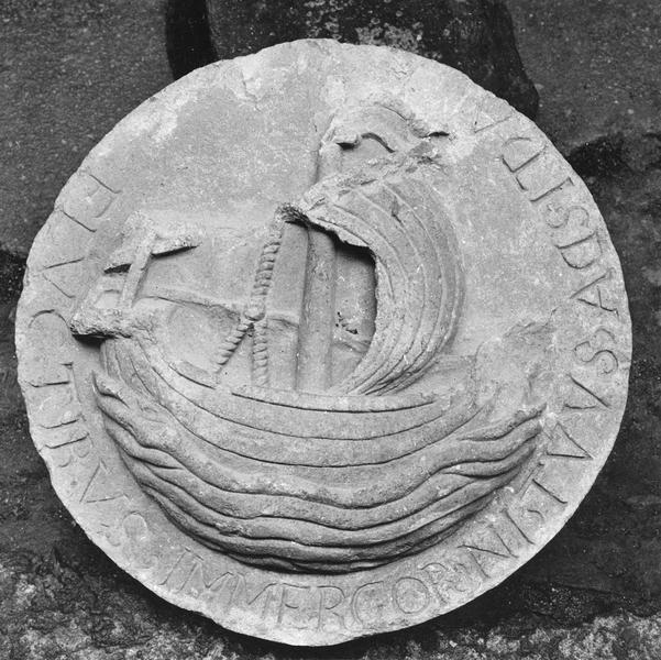haut-relief (clef de voûte, médaillon), détail