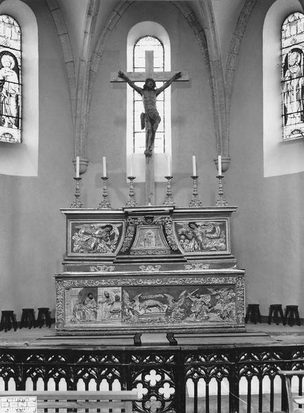 Autel, tabernacle (maître-autel, tabernacle à ailes), vue d'ensemble