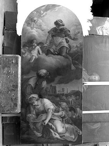Peinture sur toile : Saint Roch et les pestiférés