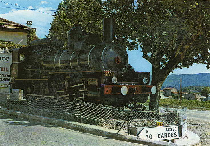 locomotive 040 B 9 EX PLM (trois quart droite)
