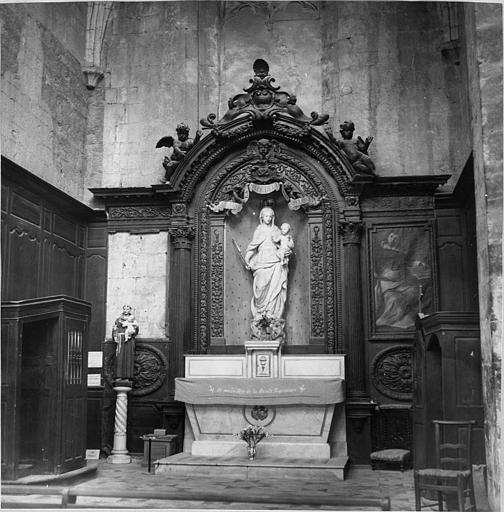 Retable de la chapelle de la Vierge blanche