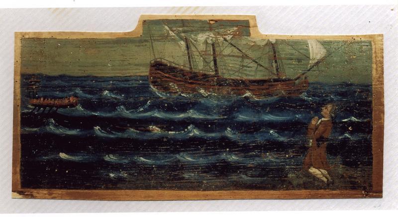 Ex-voto 3 : Tempête en mer, vue générale