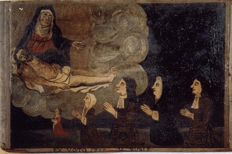 Ex-voto 18 : Une famille reconnaissante à Notre Dame de Pitié (famille V. Burle), vue générale