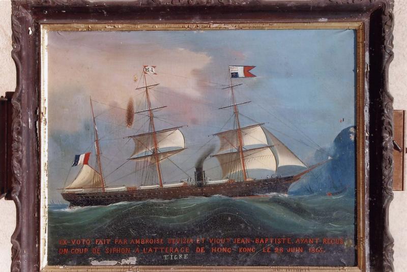 Ex-voto 36 : Paquebot mixte des Messageries Maritimes LE TIGRE, vue générale