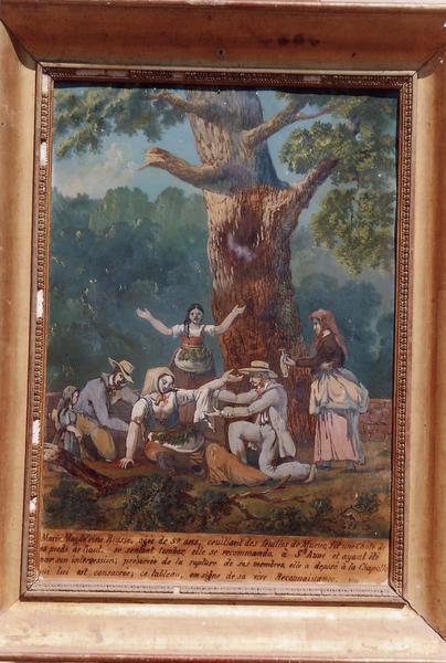 Ex-voto 83 : Femme tombée d'un arbre (Marie-Madeleine Rousse), vue générale