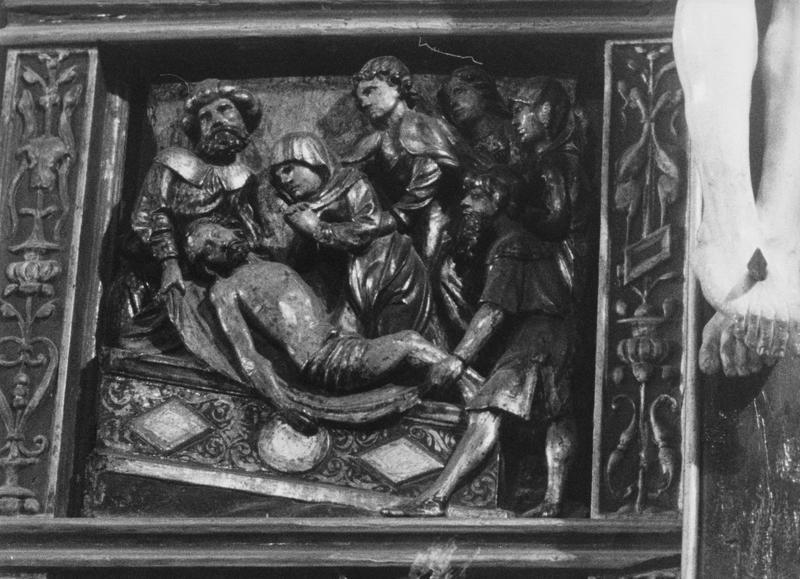 Bas-relief : Mise au tombeau, vue générale