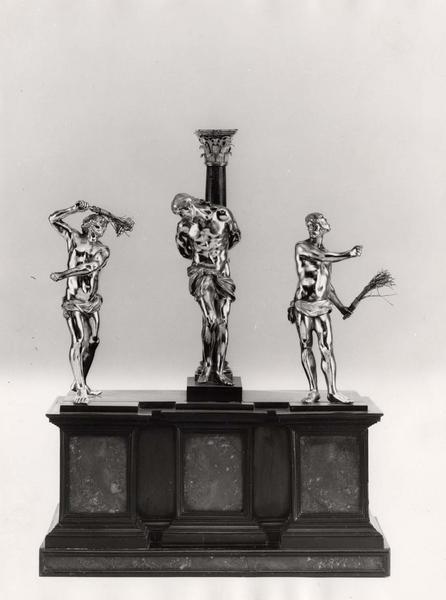 Groupe sculpté : la Flagellation, vue générale
