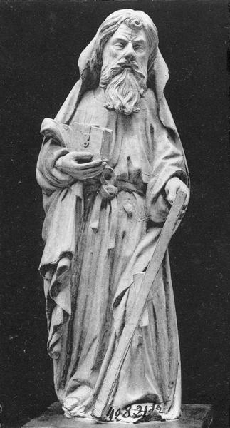 Chaire à prêcher, détail d'une statuette (saint André?)