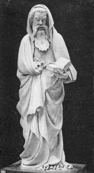 Chaire à prêcher, détail d'une statuette de prophète