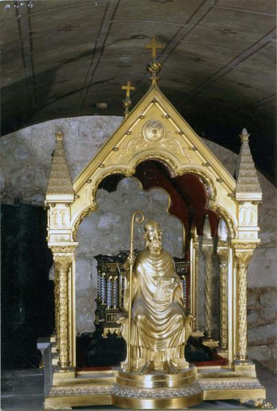Châsse-reliquaire avec statuette de saint Hilaire