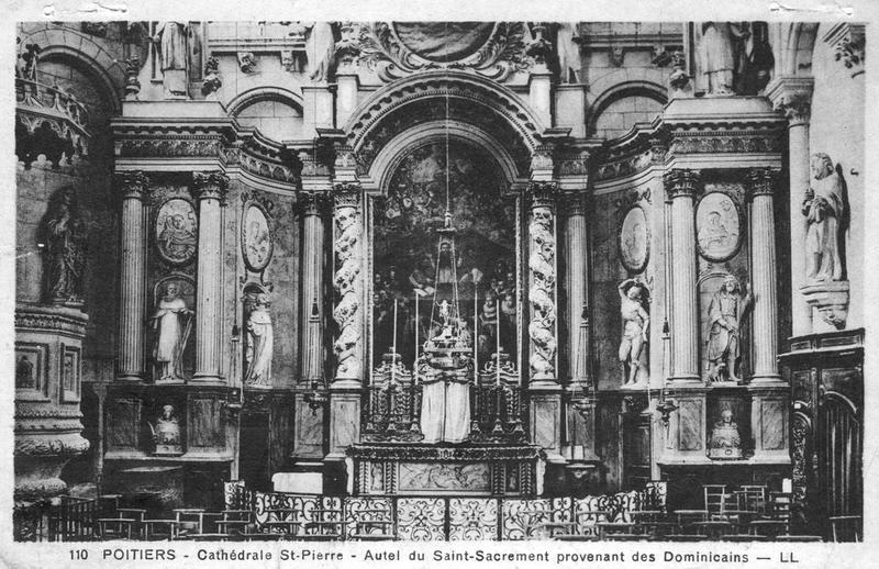 Ensemble (retable, tableau, tabernacle), vue générale