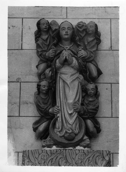 Groupe sculpté : Assomption de la Vierge (l'), vue générale