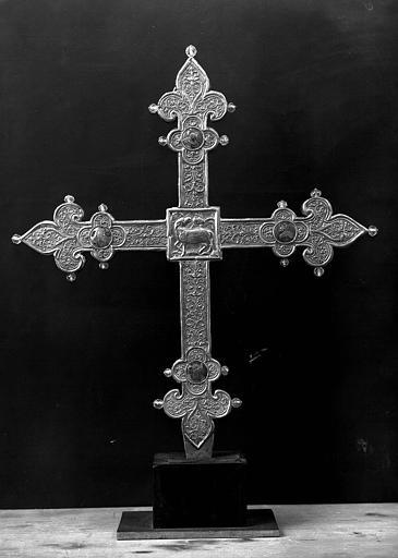 Croix processionnelle en or et émaux (revers)