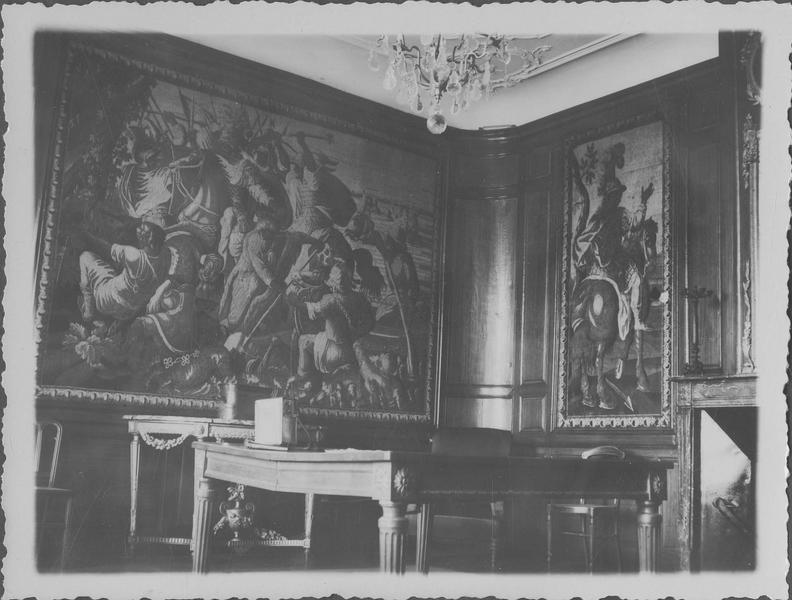 pièces murales : tenture de l'Histoire d'Alexandre, vue partielle