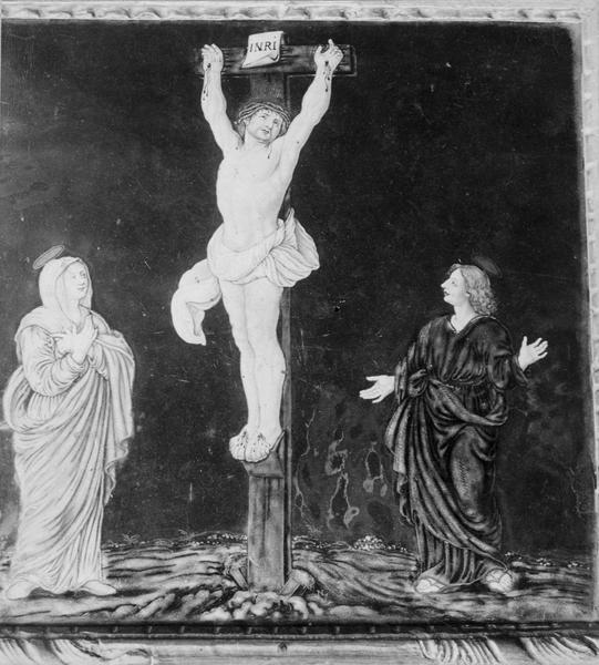 Canon d'autel central en triptyque (ensemble de 3 canons d'autel), détail
