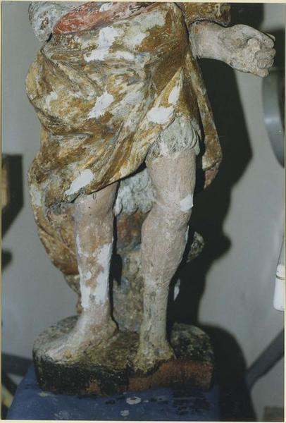 Statue: saint Jean-Baptiste, détail