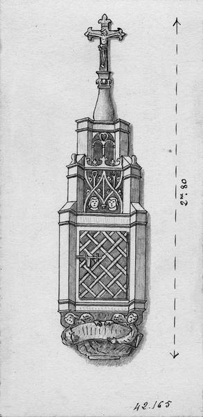 Armoire eucharistique (custode), vue générale