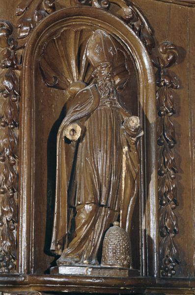 Chaire à prêcher, détail d'une statuette