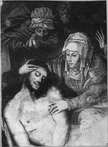 tableau : La Descente de Croix, détail du Christ