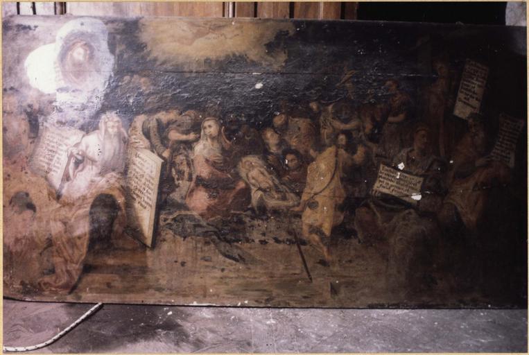 tableau : L' Annonce de Noël par six Prophètes