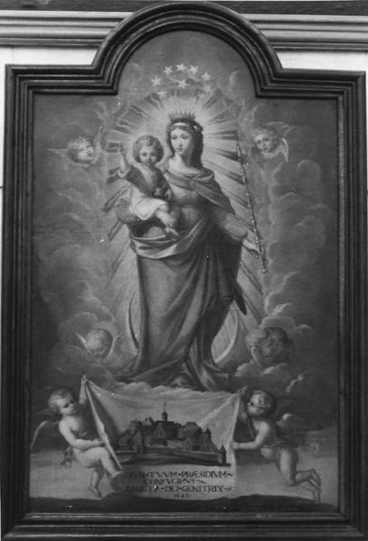 tableau : Vierge protectrice d'un ordre