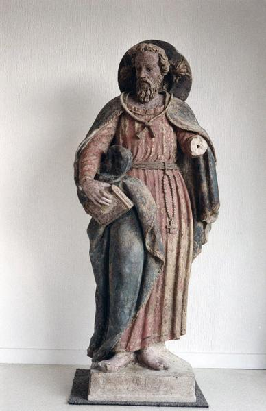 statue : saint Jacques, vue de face