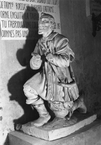statue : saint Hubert