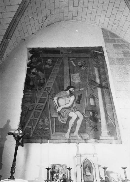 tableau : Le Christ entouré des instruments de la Passion