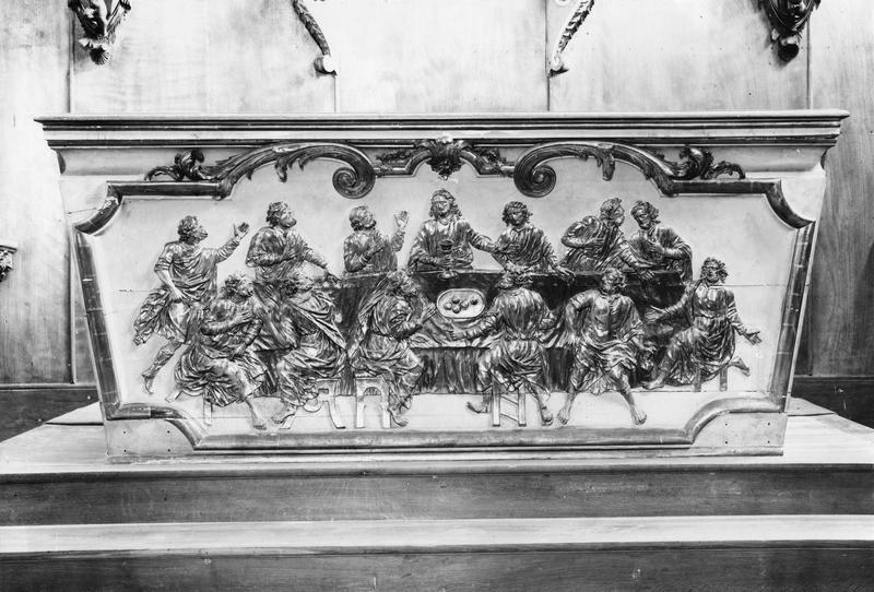 autel, bas-relief : La Cène (maître-autel)
