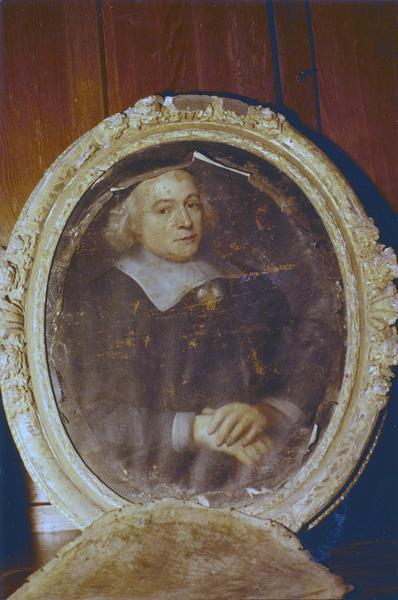 tableau, cadre : Portrait du chapelain Lessorre