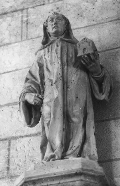 2 statues : Saint Robert, Saint François d'Assise
