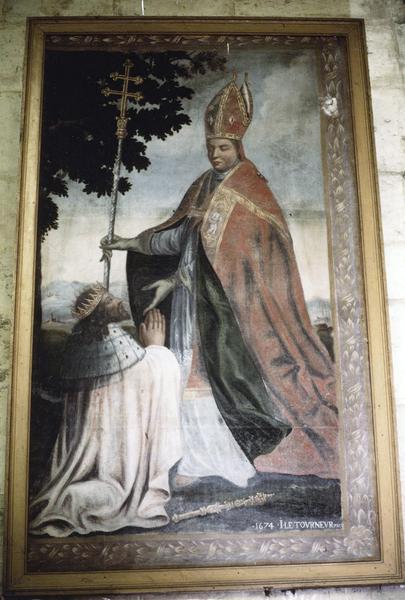 tableau : Clothaire demandant pardon à saint Loup