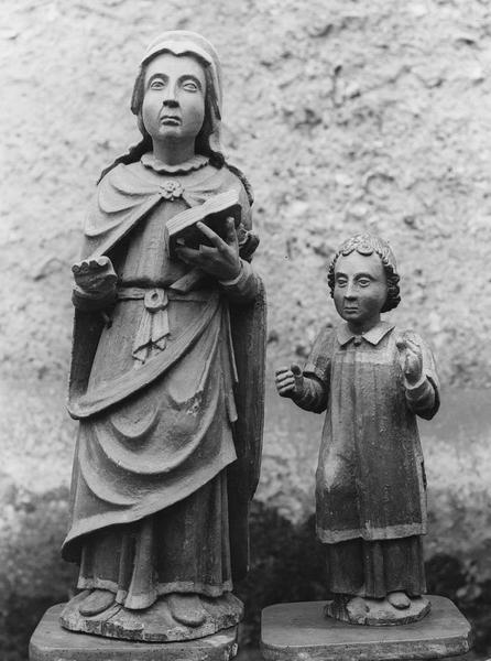 deux statues : saint Cyr, sainte Julitte, vue de face