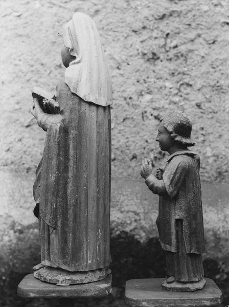 2 statues : Saint Cyr, Sainte Julitte