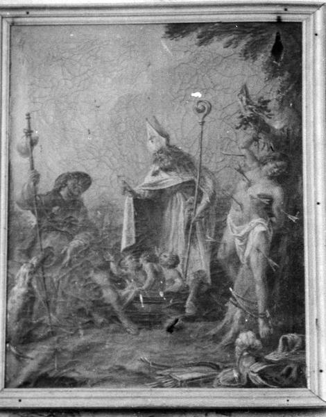 tableau : saint Nicolas, saint Sébastien, saint Roch
