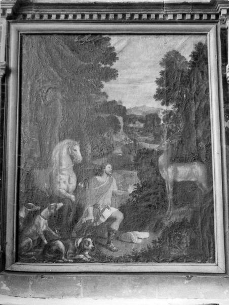 tableau : La Vision de saint Hubert