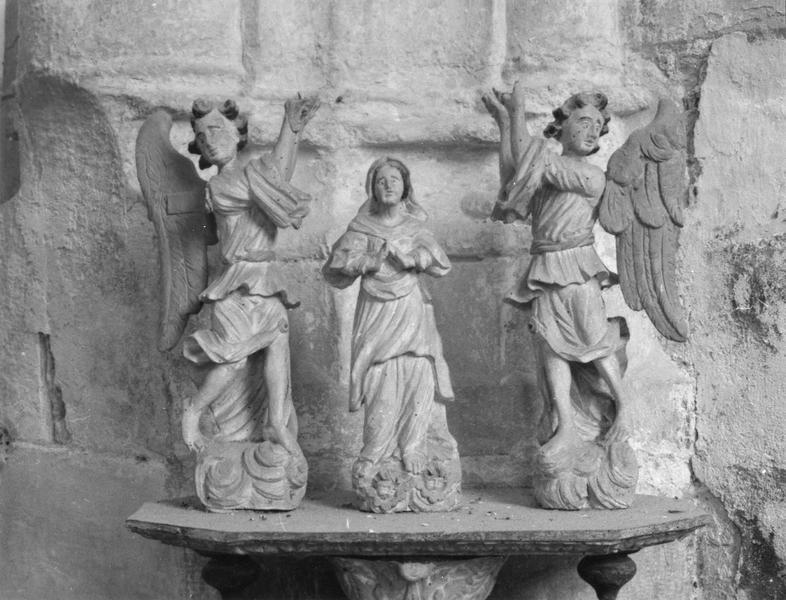 bâton de procession de confrérie : l'Assomption de la Vierge