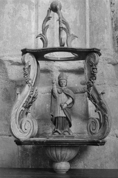 bâton de procession de confrérie : Saint Evêque