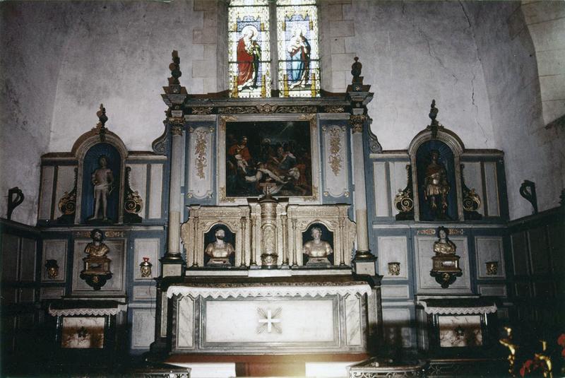 Autel, retable, tabernacle, lambris de revêtement (maître-autel)