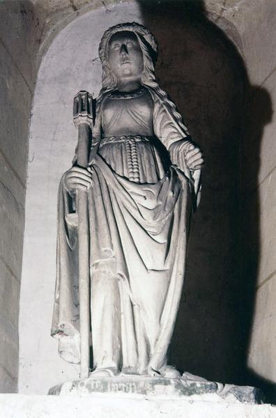 statue : sainte Brigide, style champenois