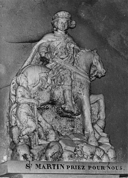 groupe sculpté : La Charité de saint Martin