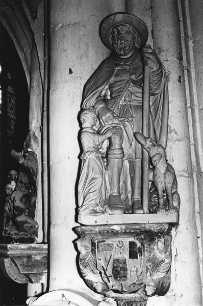 statue, socle : saint Roch